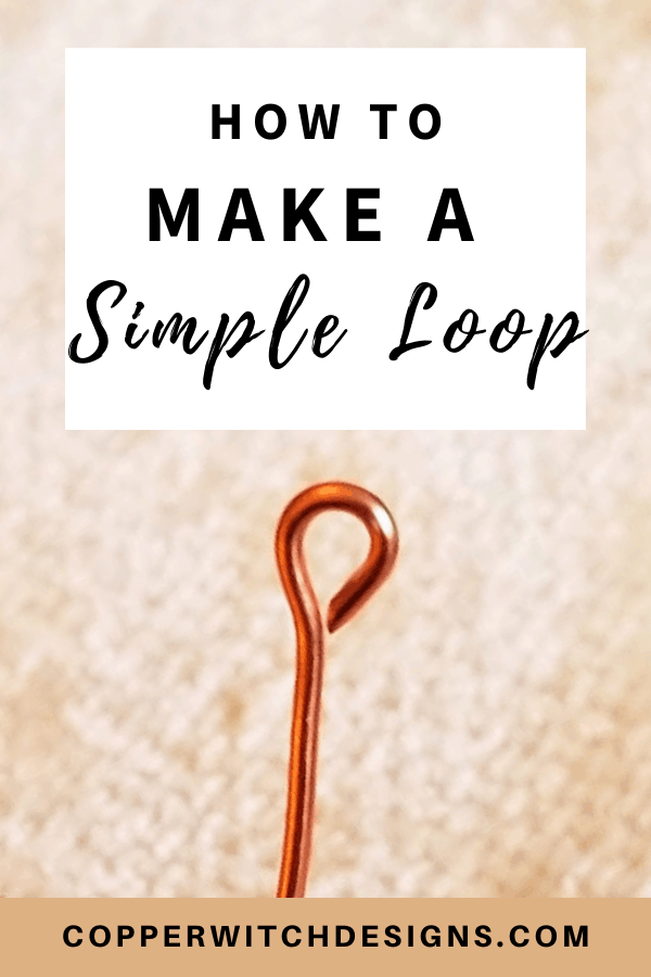 Want to learn how to make a simple wire loop? Click to learn how to make a simple loop with this jewelry making video tutorial now! #DIYjewelry #handmadejewelry #jewelryDIYs