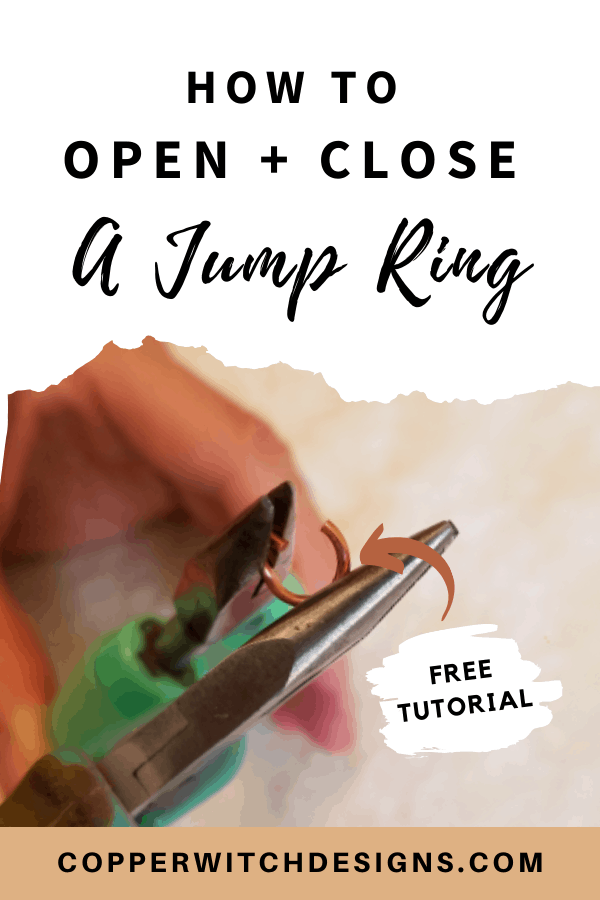Want to make your own jewelry? But not sure how to open a jump ring properly? Check out this tutorial on how to open and close a jump ring (the right way), and make your own beautiful DIY jewelry now! #DIYjewelrytips #DIYjewelrytutorials #makejewelry #jumpringtips