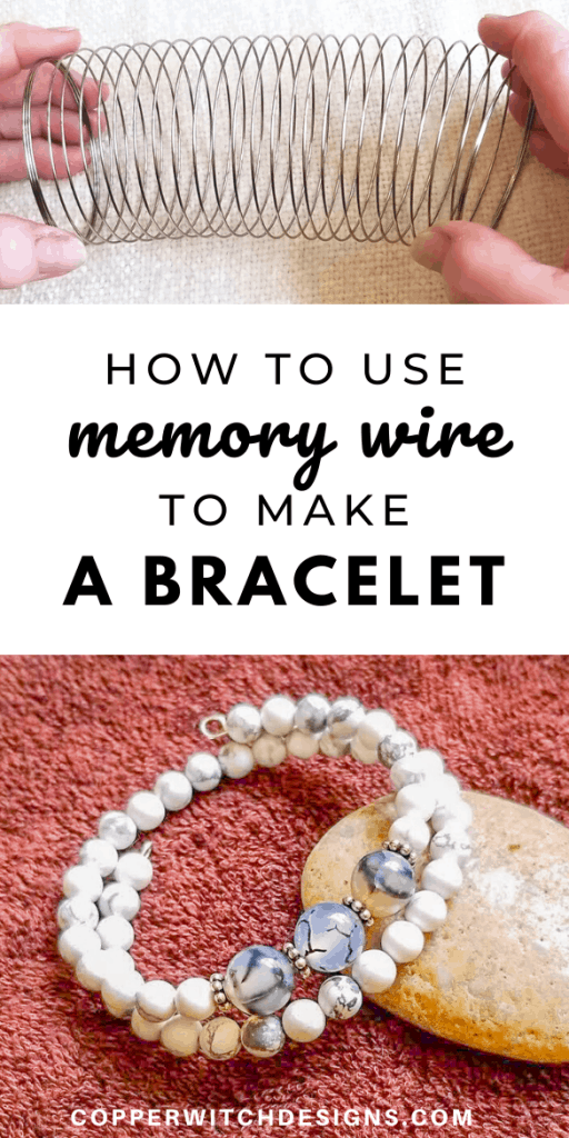 Check out how to make your own memory wire bracelet with this step by step tutorial for a DIY bracelet now #DIYbracelet #DIYjewelry #handmadejewelry